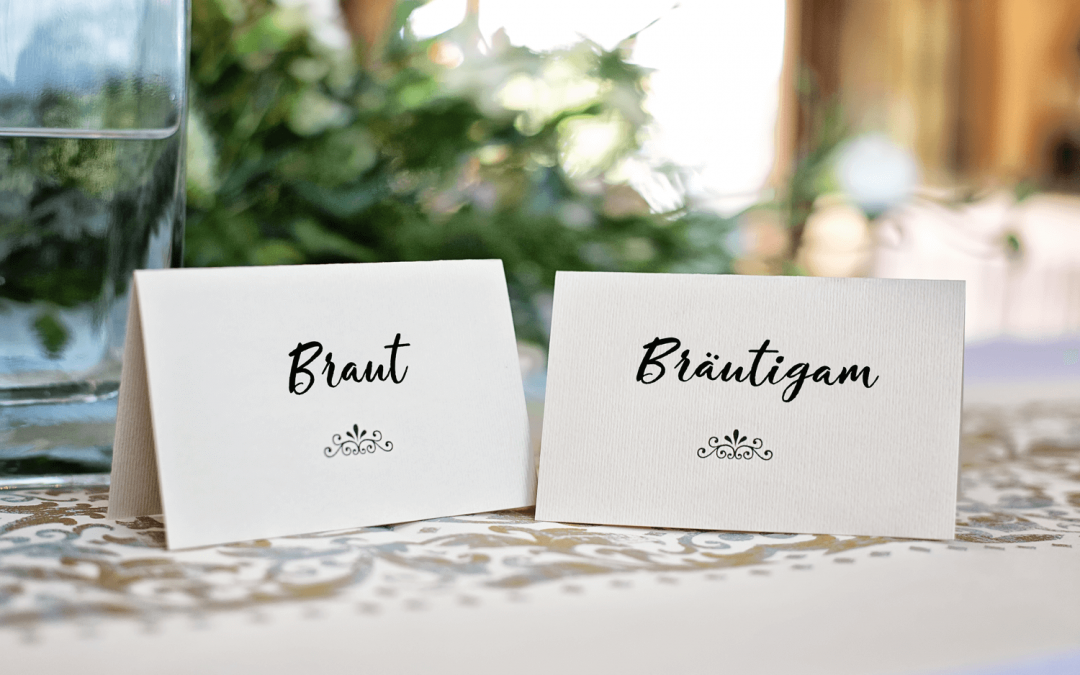 Tischkarten zur Hochzeit